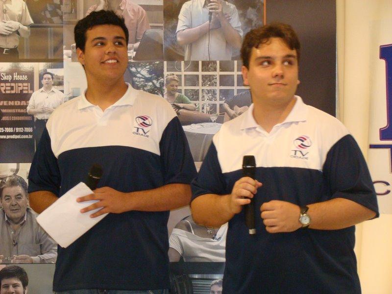 Marcelo Prata e Henrique GIovanini na TV Cidade